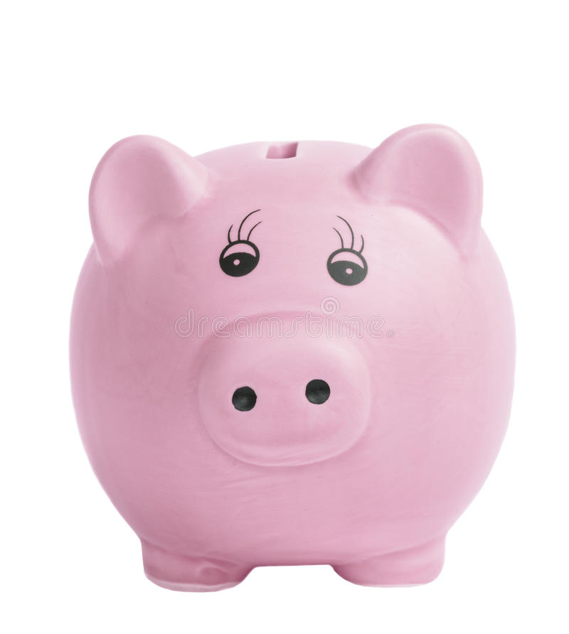 La Banca Piggy isolata fotografie stock