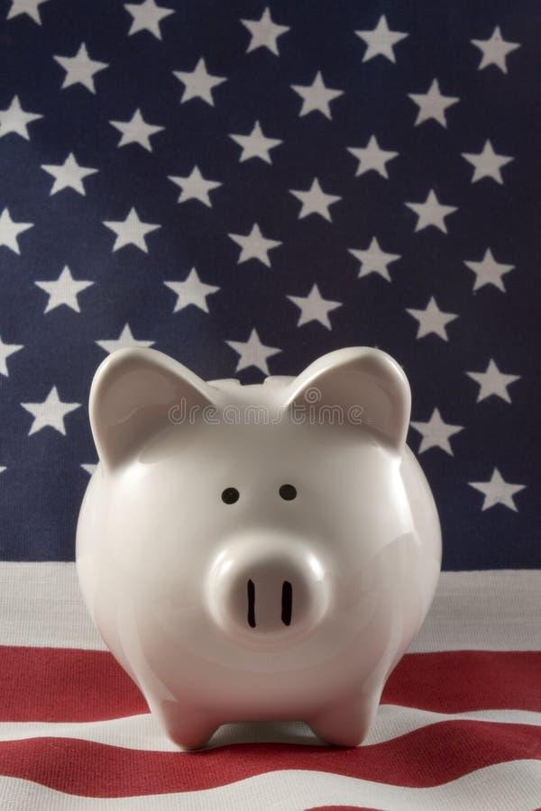 La Banca Piggy patriottica 4152 fotografia stock