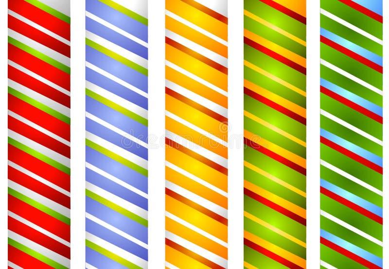 La banda della canna di caramella delimita 2 illustrazione di stock
