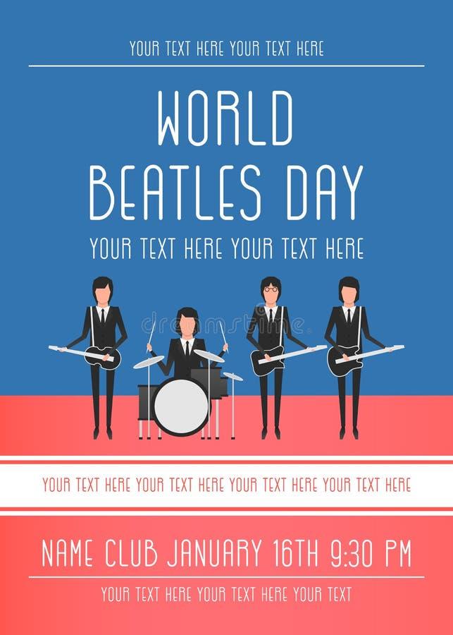 La banda di Beatles illustrazione di stock