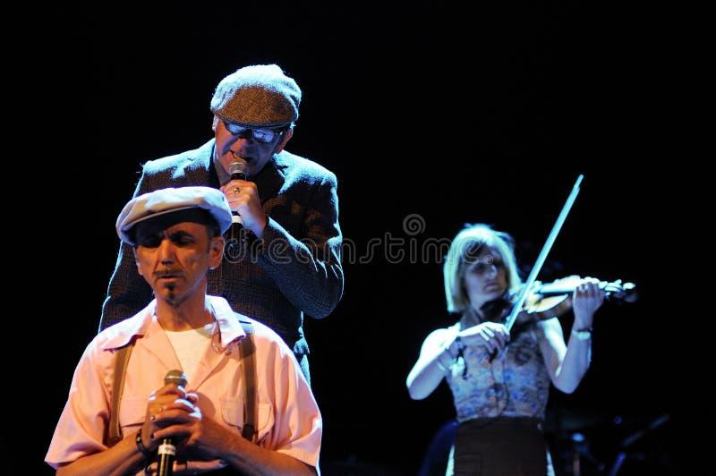 La banda di Dexys, esegue al festival 2013 del suono di Heineken Primavera fotografia stock