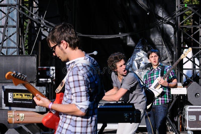 La banda di Fira Fem esegue al festival di Dcode immagine stock libera da diritti