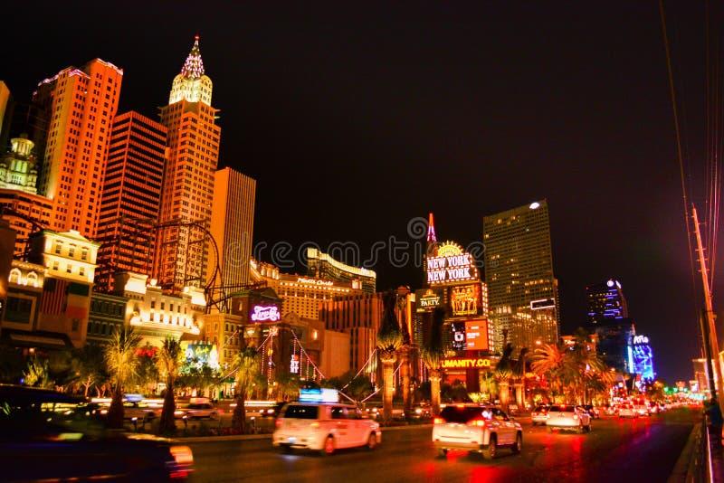 La bande à Las Vegas la nuit photos stock