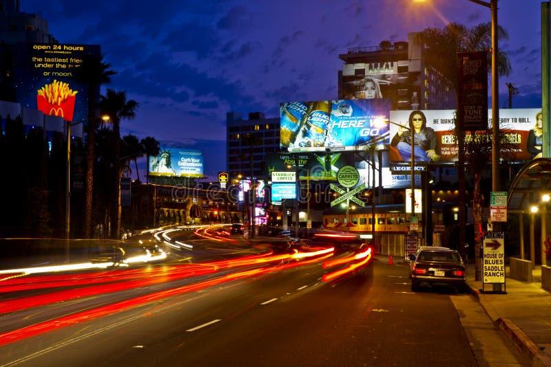 La bande célèbre de coucher du soleil à Los Angeles photo stock
