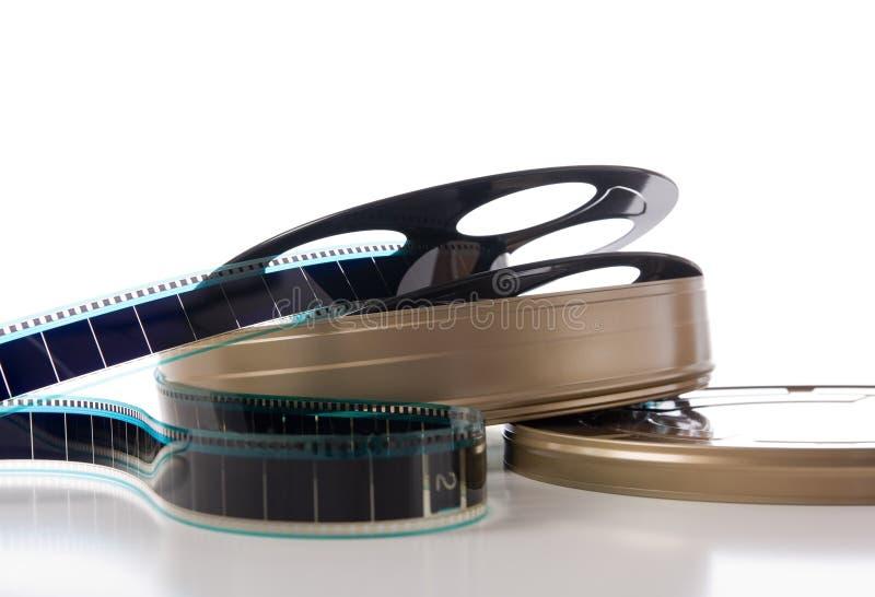 La bande de film, bobine et peut photos stock