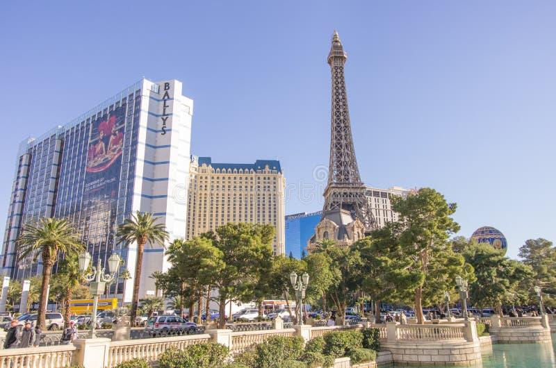 La bande de Las Vegas : le Ballys et le Paris image stock