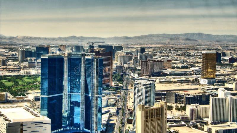 La bande de Las Vegas - vue d'Aereal d'hôtels photo libre de droits