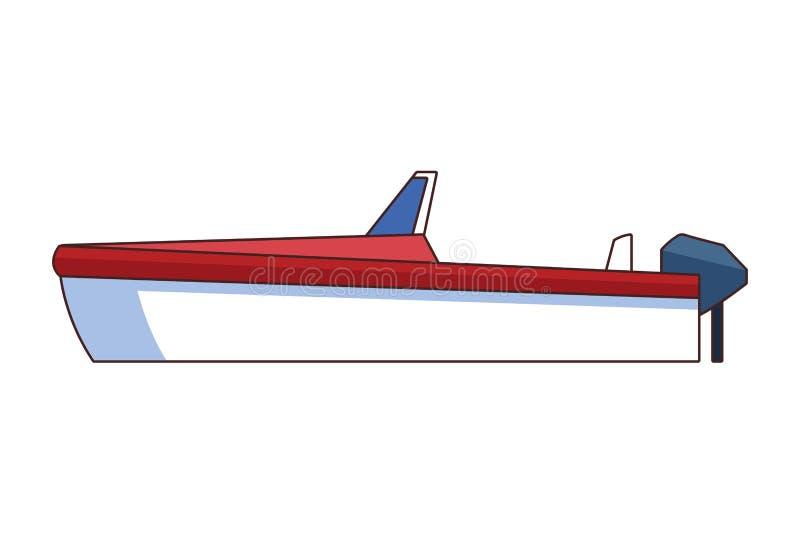 La bande dessinée d'icône de bateau a isolé illustration libre de droits