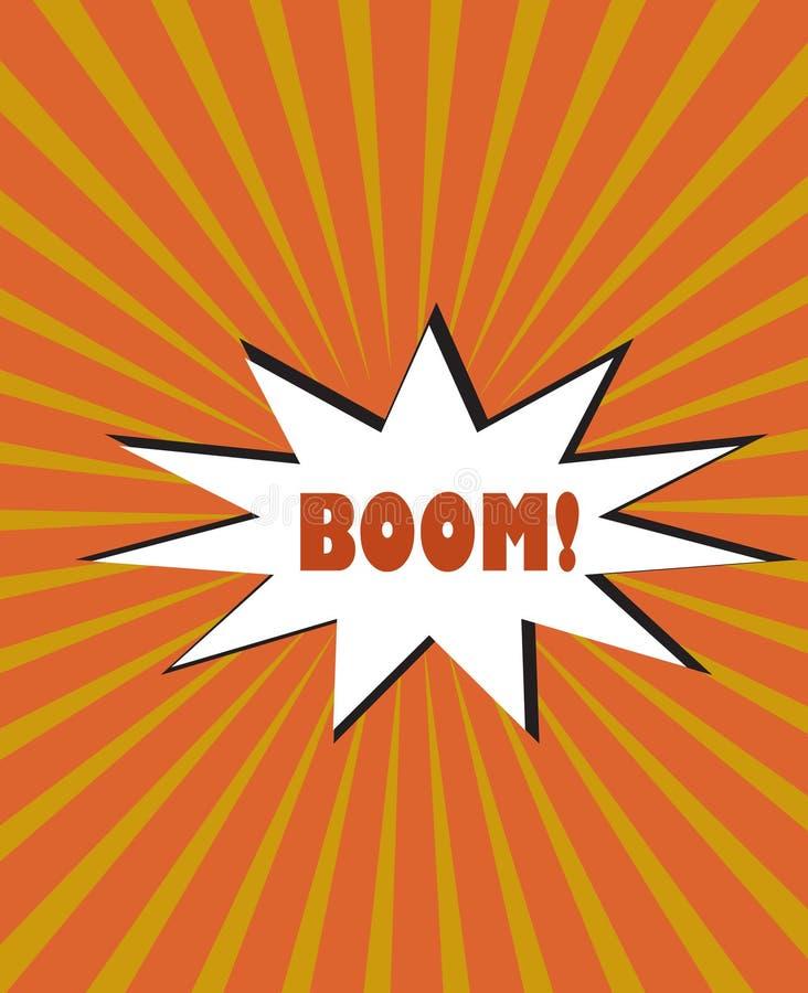 La bande dessinée jaune-orange de raies a éclaté l'esprit de fond de vecteur d'explosion illustration de vecteur