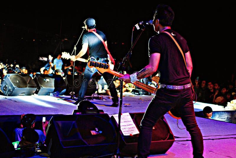 La bande punk Superman de rok est morte photographie stock libre de droits