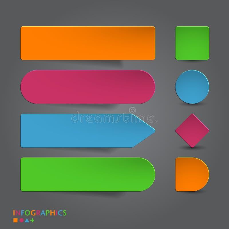 La bandera abstracta del infographics, etiqueta, etiqueta diseña t ilustración del vector