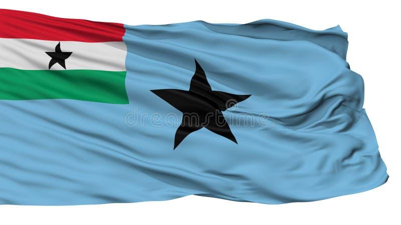 La bandera civil del aire de Ghana 1964 1966 señala por medio de una bandera, aislado en blanco stock de ilustración
