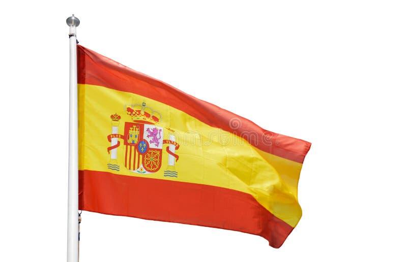 La bandera de España aisló imágenes de archivo libres de regalías