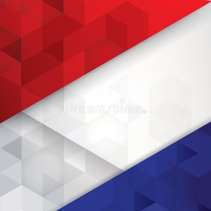 La Bandera De Francia Colorea El Fondo Abstracto Ilustración