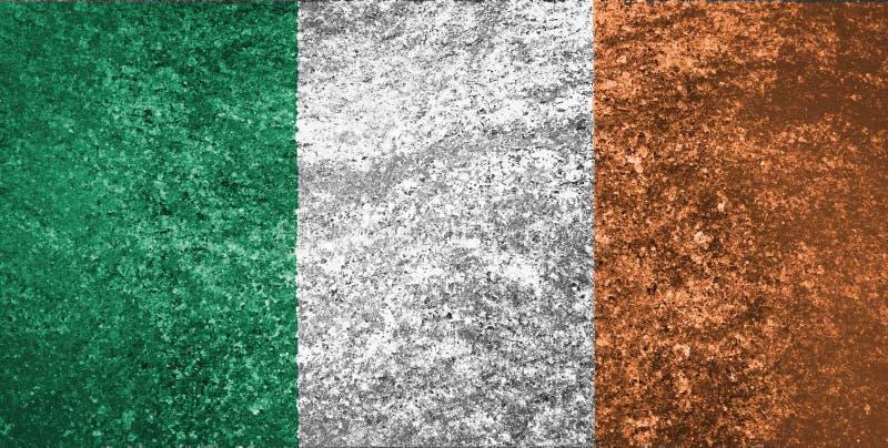 La bandera de Irlanda ilustración del vector