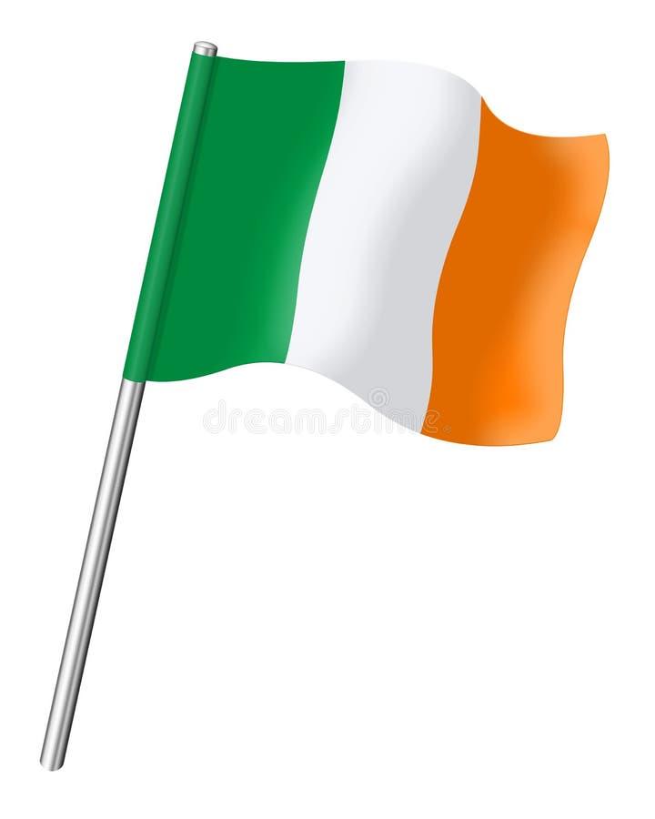 La bandera de Irlanda aisló en el fondo blanco stock de ilustración