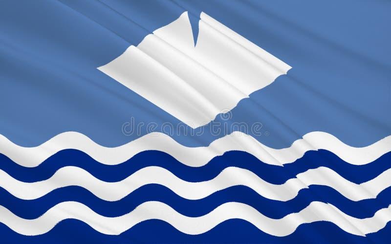 La bandera de la isla del Wight es un condado, Inglaterra fotografía de archivo