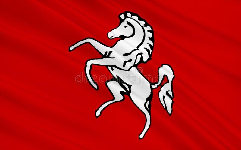 La bandera de Kent es un condado, Inglaterra imagen de archivo