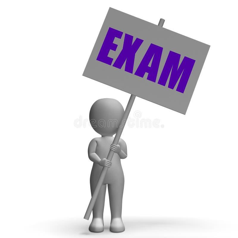 La bandera de la protesta del examen significa exámenes difíciles libre illustration