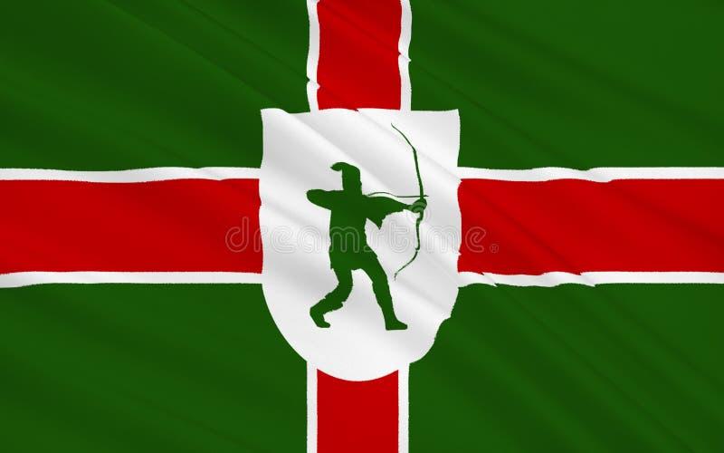 La bandera de Nottinghamshire es un condado, Inglaterra fotografía de archivo