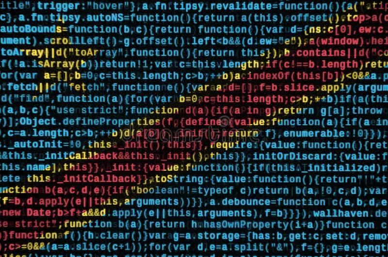 La bandera de República Democrática del Congo se representa en la pantalla con el código de programa El concepto de tecnología mo imagenes de archivo
