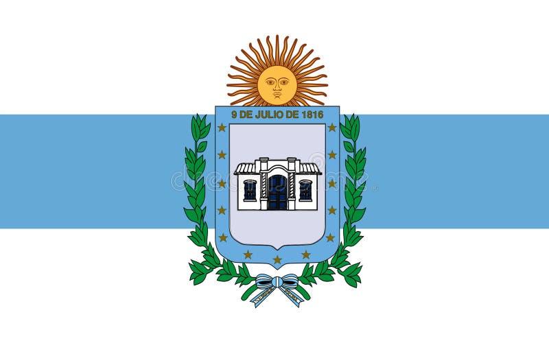 La bandera de San que Miguel de Tucuman es la capital de Tucumán es una favorable ilustración del vector