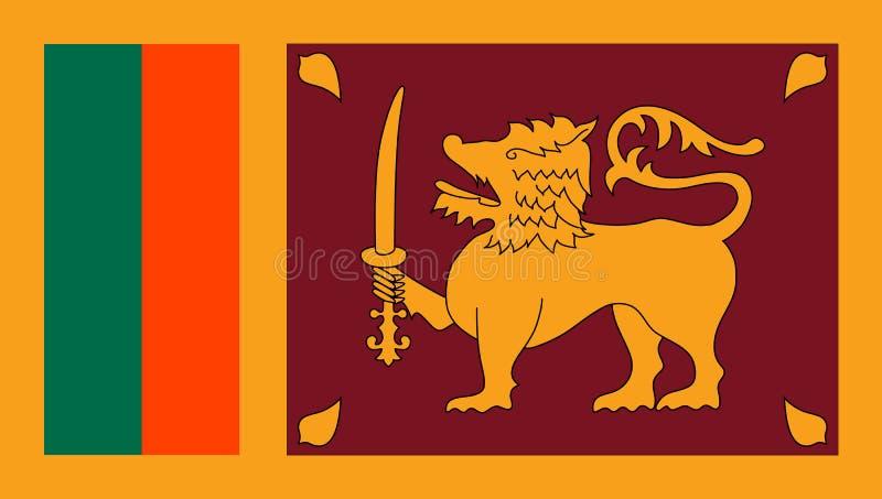 La bandera de Sri Lanka, vector estilo plano ilustración del vector