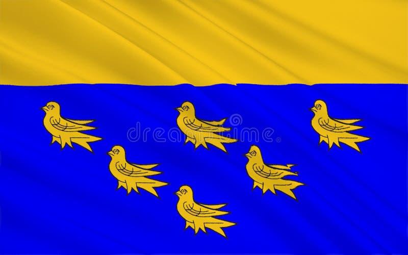 La bandera de Sussex del oeste es un condado, Inglaterra imagenes de archivo