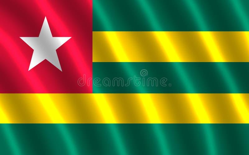 La bandera de Togo stock de ilustración