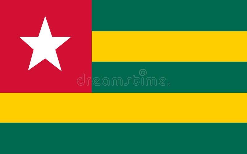 La bandera de Togo ilustración del vector