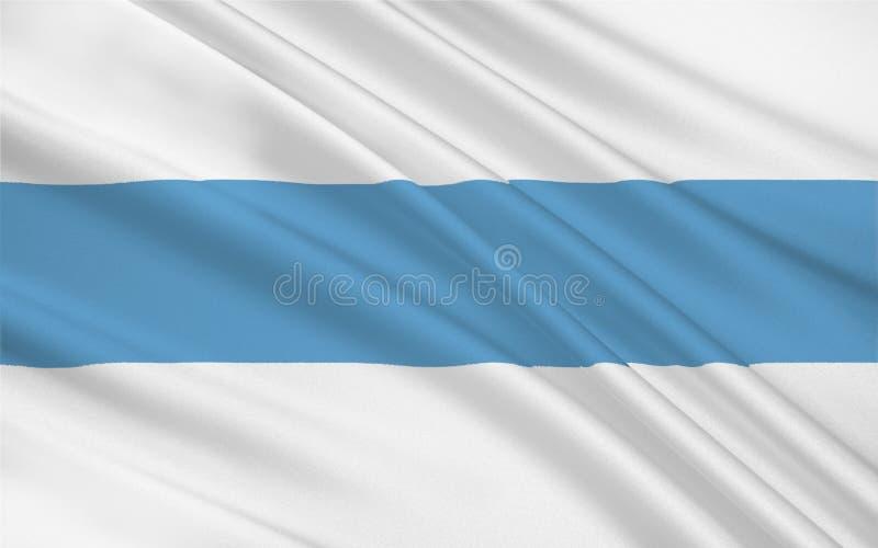 La bandera de Tucumán es una provincia en la Argentina ilustración del vector