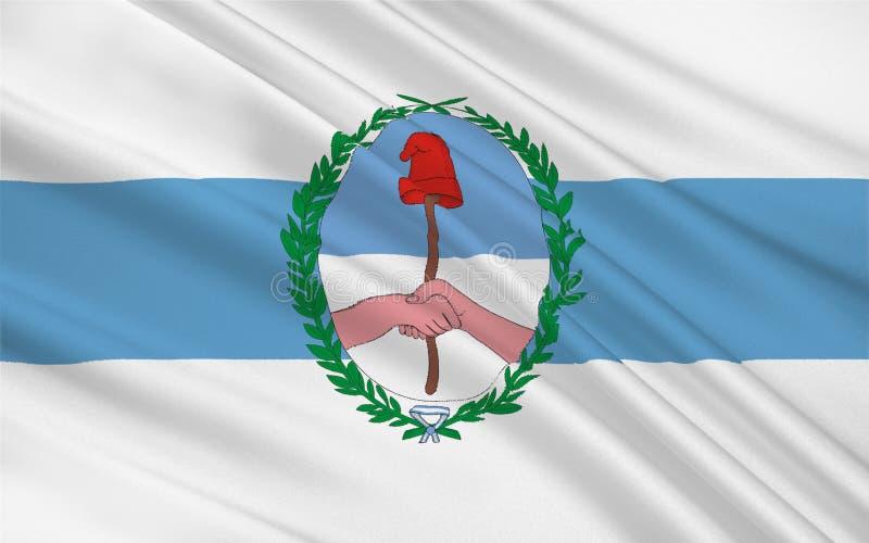 La bandera de Tucumán es una provincia en la Argentina stock de ilustración