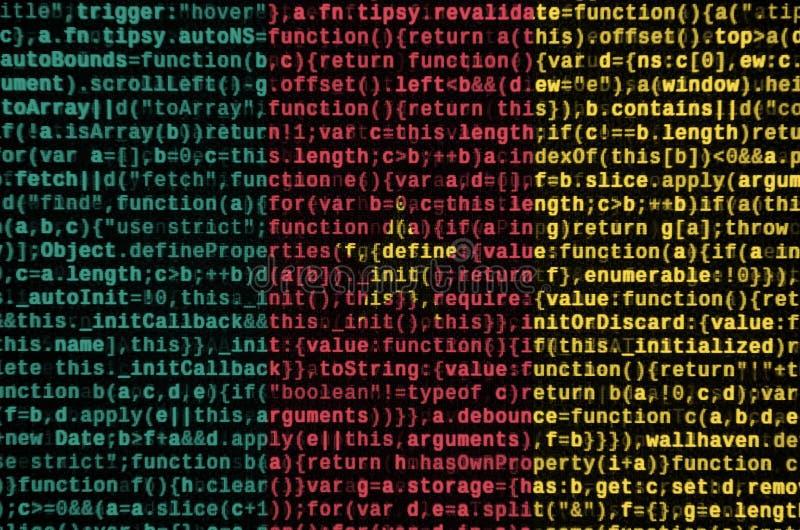 La bandera del Camerún se representa en la pantalla con el código de programa El concepto de desarrollo moderno de la tecnología  imagen de archivo libre de regalías