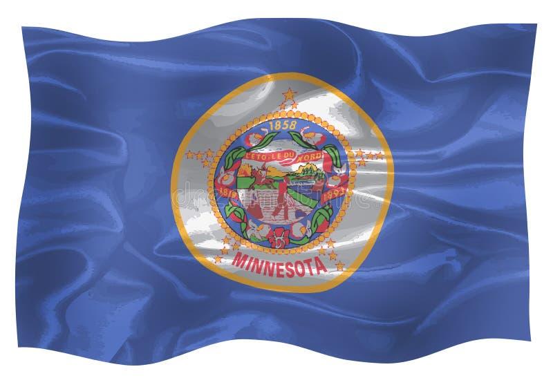 La bandera del estado de Minnesota stock de ilustración