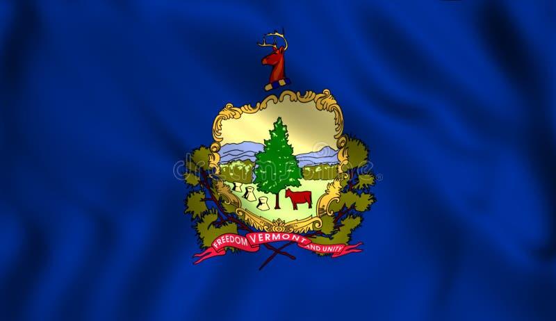 La bandera del estado de Vermont stock de ilustración