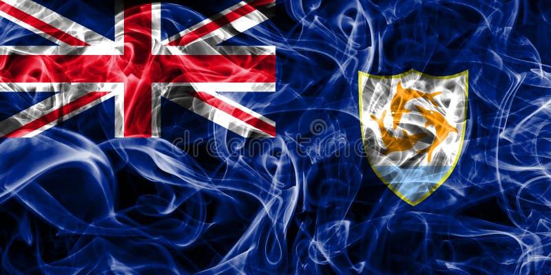 La bandera del humo de Anguila, territorios de ultramar británicos, Gran Bretaña depen ilustración del vector