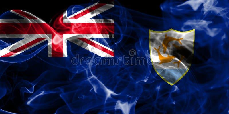 La bandera del humo de Anguila, territorios de ultramar británicos, Gran Bretaña depen stock de ilustración