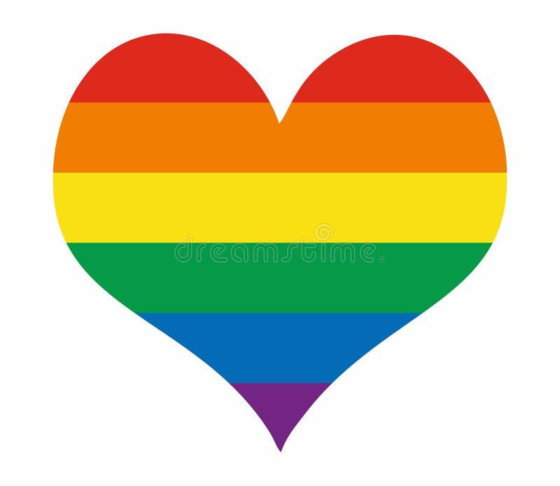 La bandera del orgullo de LGBT o bandera del orgullo del arco iris incluye de la bandera lesbiana, homosexual, bisexual, y del tr stock de ilustración