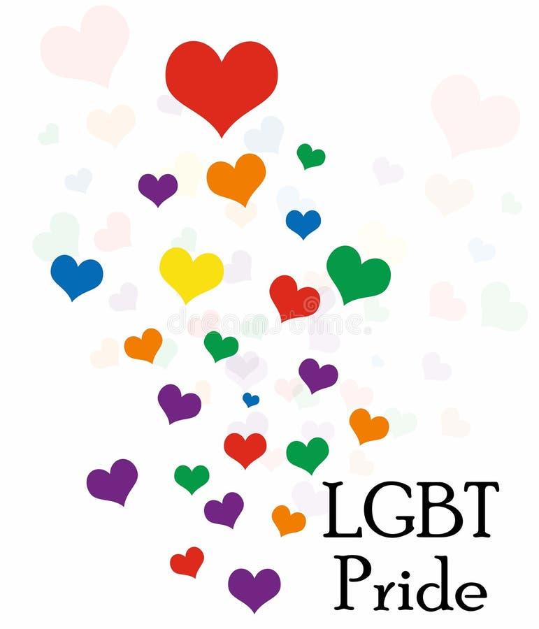 La bandera del orgullo de LGBT o bandera del orgullo del arco iris incluye de la bandera lesbiana, homosexual, bisexual, y del tr libre illustration