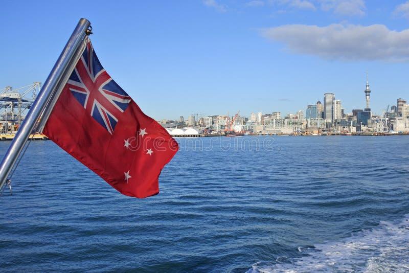 La bandera del rojo de Nueva Zelanda fotos de archivo