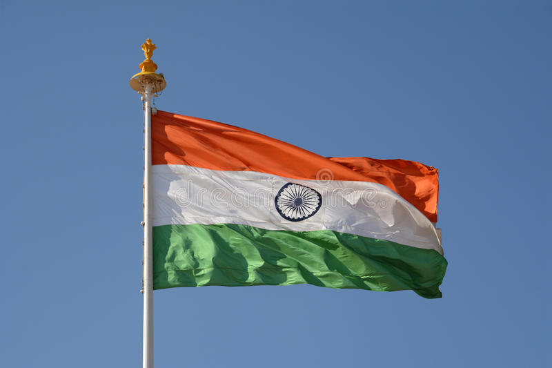 La bandera nacional de la India fotografía de archivo libre de regalías