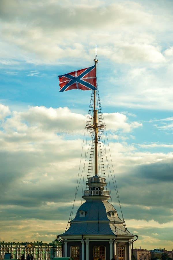 La bandera rusa de la fortaleza foto de archivo libre de regalías
