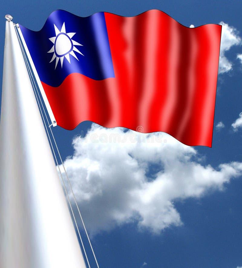 La bandera se utiliza no más en China continental después de que el ` s la República de China de la gente fuera fundado en 1949 C foto de archivo