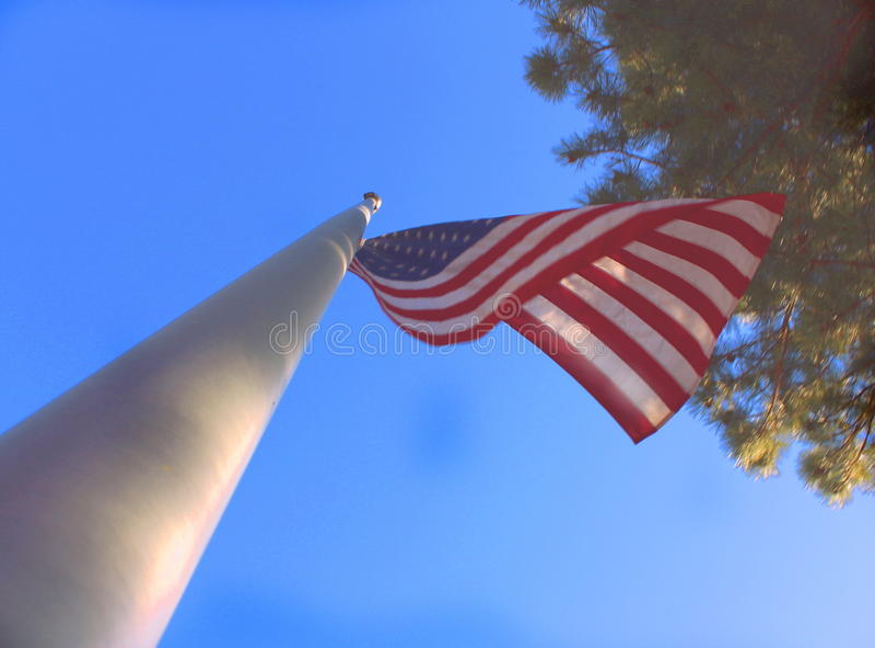La bandiera americana fotografia stock libera da diritti