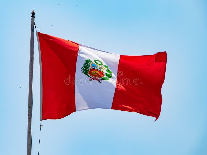 La bandiera del Perù fotografia stock