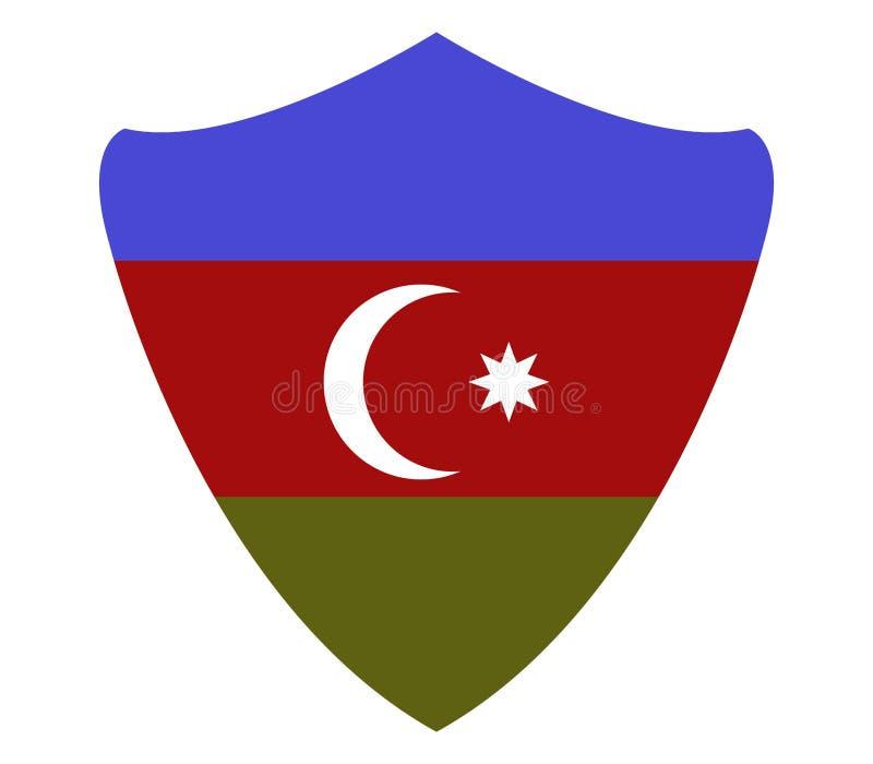La bandiera dell'Azerbaigian ha illustrato illustrazione vettoriale