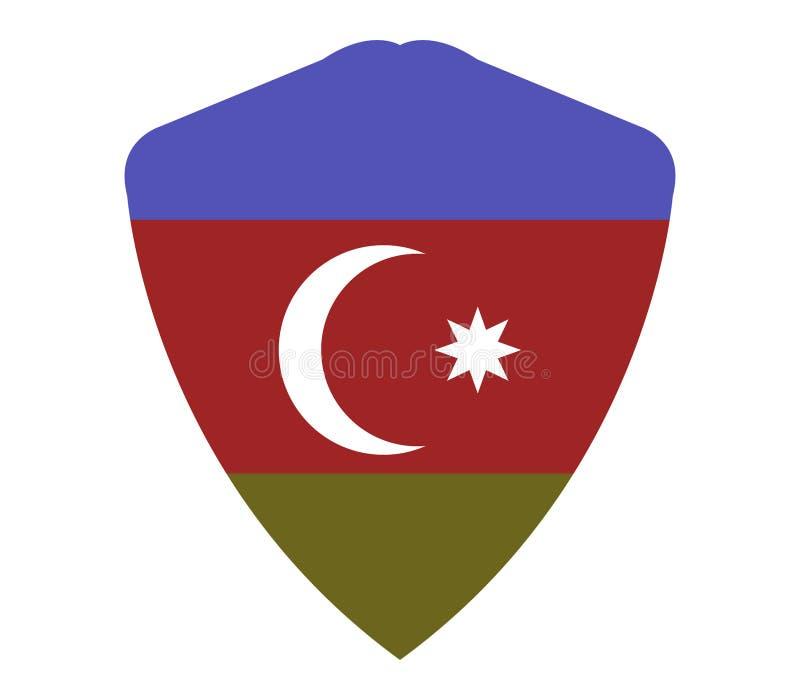 La bandiera dell'Azerbaigian ha illustrato royalty illustrazione gratis