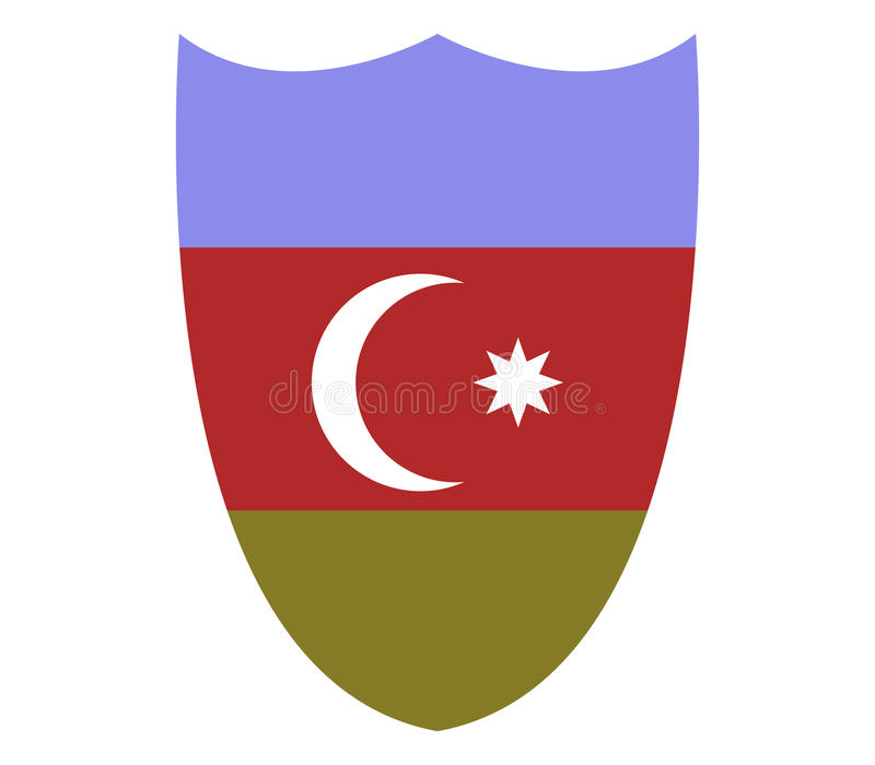 La bandiera dell'Azerbaigian ha illustrato illustrazione di stock
