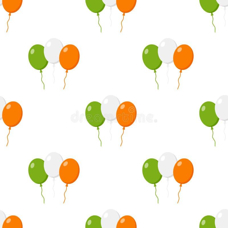 La bandiera dell'Irlanda Balloons il modello senza cuciture dell'icona royalty illustrazione gratis