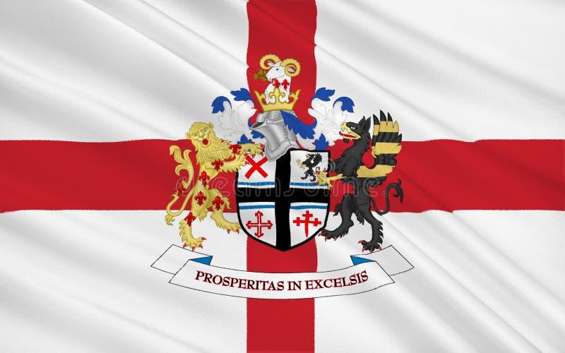 La bandiera della città metropolitana di St Helens è Boro metropolitano royalty illustrazione gratis